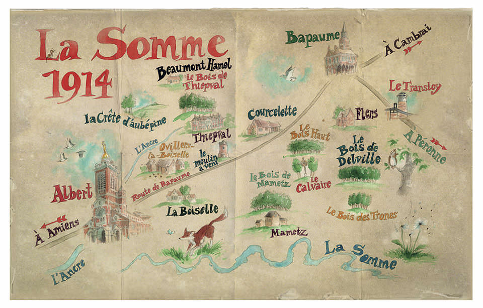 Map of The Somme in 1914