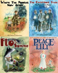 Book covers of the Poppies Series books.