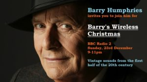 Barry's Wireless Christmas announcement.